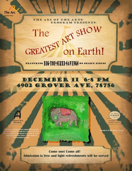 December 2014 art show flyer