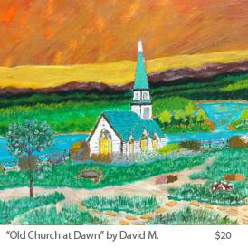 Old Church at Dawn by DavidM..