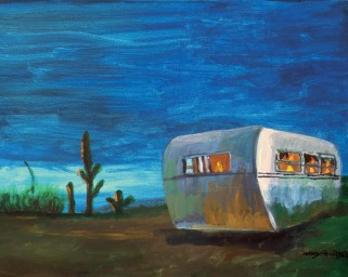 A Trailer In A Texas Sunset 8x10